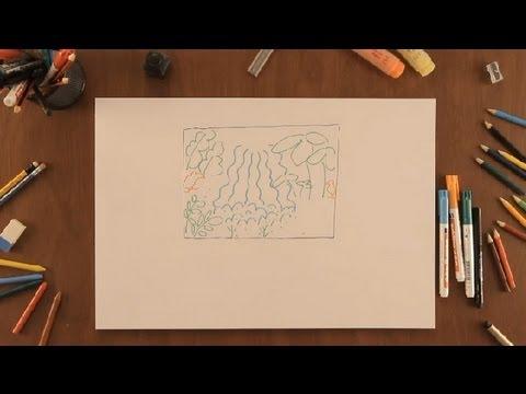 Cmo dibujar el amazonas  Dibujos de la Naturaleza  YouTube