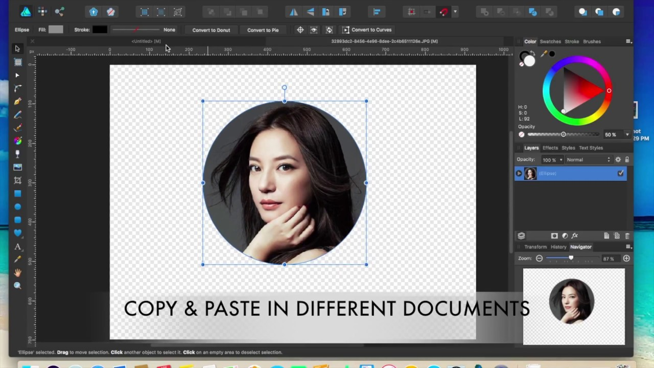 Affinity Designer: Crop an Image into a Circle (ScriptVerse)