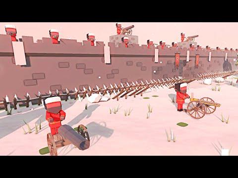 HUGE British MEGA-FORTRESS in American Revolution! - Ancient Warfare 3: Battle Simulator  