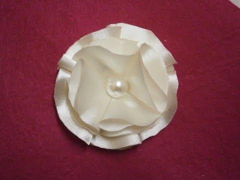 How To Make Easy Satin Flower Diy Tutorial Fabric Flower