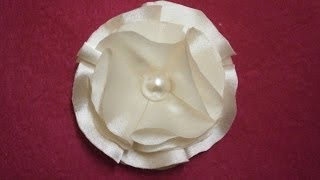 How To Make Easy Satin Flower, Diy,tutorial, Fabric Flower