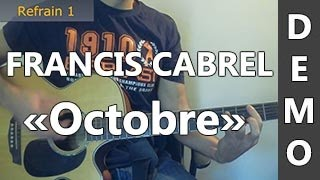 Francis Cabrel - Octobre - DEMO Guitare