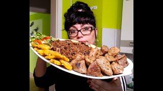 Comida Cubana Masas de Cerdo Fritas el mejor sabor que hayas probado+Arroz congrí