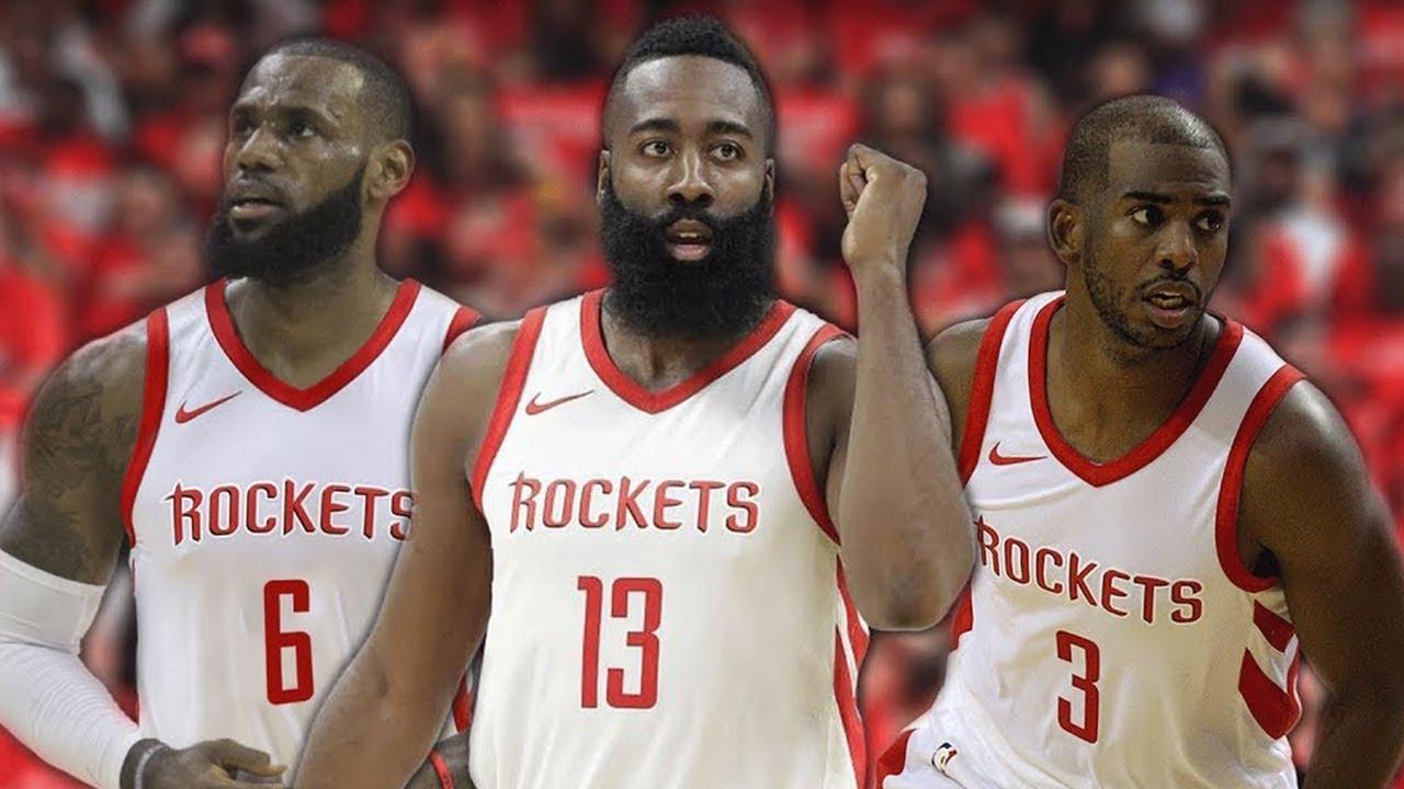 da1e47aa295b Chris Paul BEGGING Lebron James To Join Houston Rockets! - YouTube