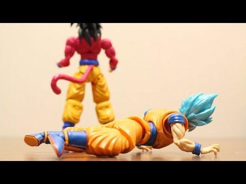 DRAGON BALL STOP MOTION SUPER SAIYAN 4 SON GOKU HELP SUPER  SAIYAN BLUE SON GOKU?