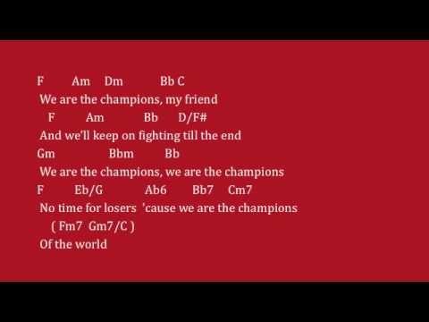 We Are The Champions By Queen - Lyrics & Chords