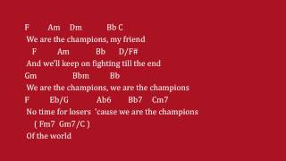 """Lyrics and chords of queen's """"we are the champions"""". written by freddie mercury. for information on music, please visit itunes or your local music st..."""