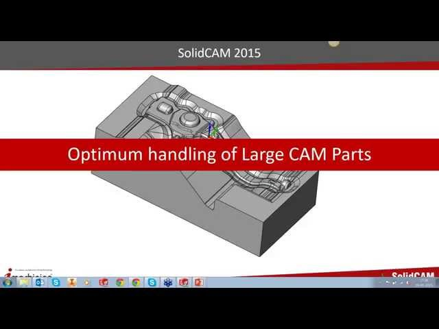 Optimum handling of a Large CAM Part