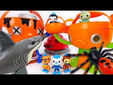 Octopod is Destroyed by Shark Attack~! Octonauts, Let's Move To New Octopod