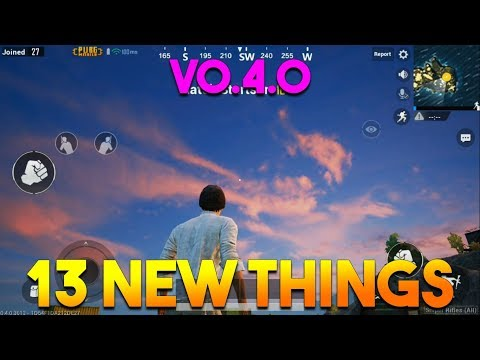 13 NEW THINGS IN UPDATE VERSION 0.4.0 |  PUBG MOBILE