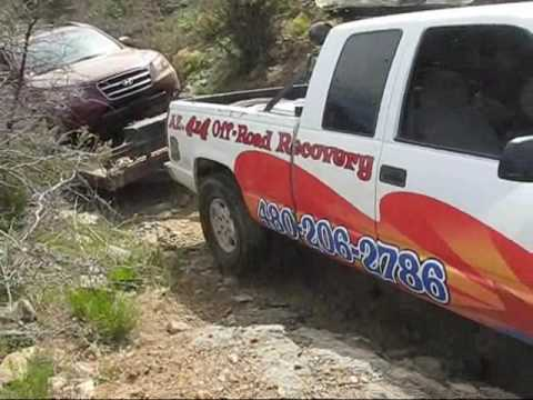 Arizona 4x4 Off road Recovery returns to FR 192 in Crown King Az