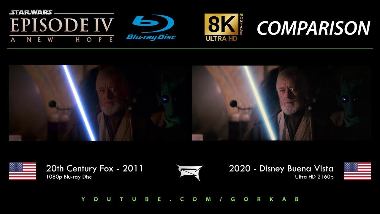 Blu Ray Versus Star Wars Episode Iv Un Nouvel Espoir 2011 Vs 2020 Comparatif 8k Ultra Hd Youtube