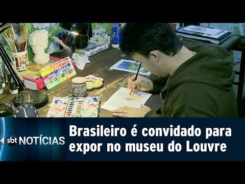 Artista brasileiro é convidado para expor quadros no museu do Louvre | SBT Notícias (12/07/18)
