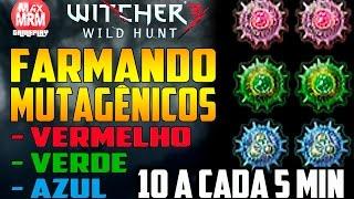 The Witcher 3 - FARMANDO MUTAGÊNICOS ( Menor Vermelho, Azul e Verde ) [ 10 a cada 5 min ]
