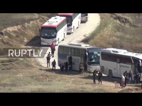 Syria: Militant evacuation resumes in Homs and Hama