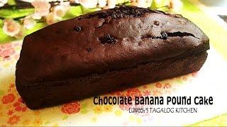 Chocolate Banana Pound Cake   (whole Wheat Flour)