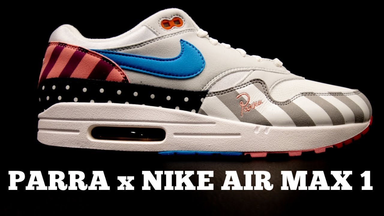 new style 1a073 a67ac PARRA x NIKE AIR MAX 1 UNBOXING