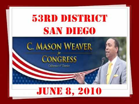 San Diego US Congress, Vote., C. Mason Weaver, 53rd district