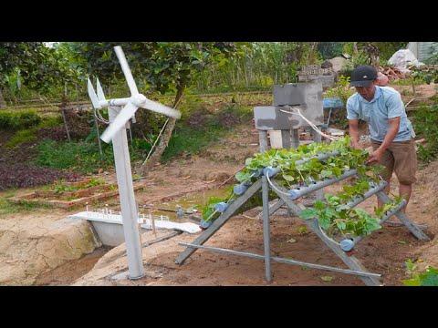Using Wind Energy For Mini Hydroponic Garden Model