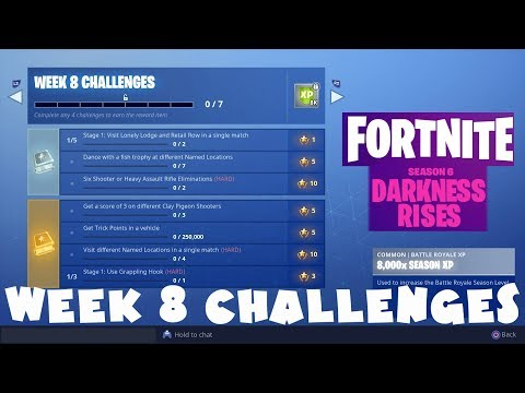 ALL Week 8 Challenges Guide - Fortnite Battle Royale Season 6