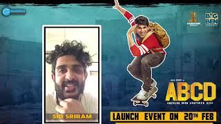Sid Sriram To Launch His New Song In Hyderabad | #MellaMellaga #ABCDFirstSingle