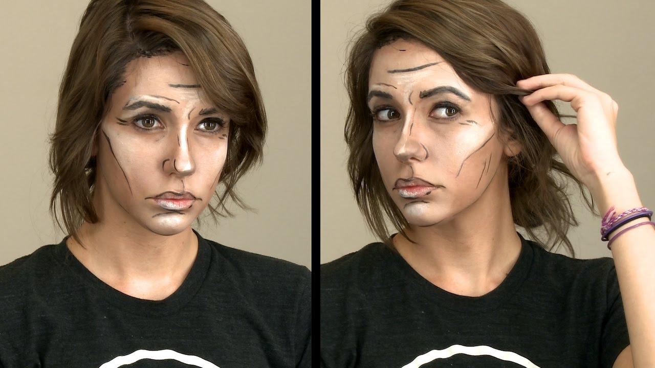 Borderlands cell shading cosplay makeup. | borderlands cosplay.