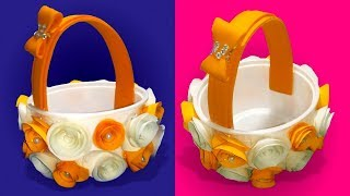 Small Rose Basket DIY | make a small gift basket at home | diy basket |Tuber Tip
