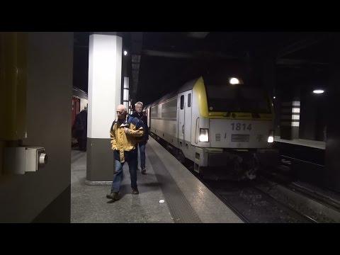 Aankomst NMBS HLE 1814 + IC op station Brussel-Centraal