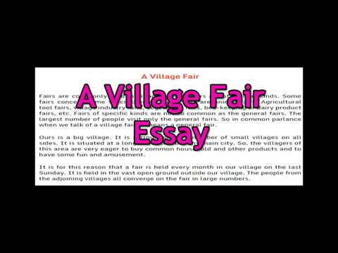 Essay On A Village Fair English Essay For Class  And   Essay On A Village Fair English Essay For Class  And