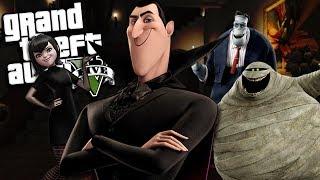 THE HOTEL TRANSYLVANIA SEQUEL MOD w/ Dracula, Mavis, Frank & Murray (GTA 5 PC Mods Gameplay)