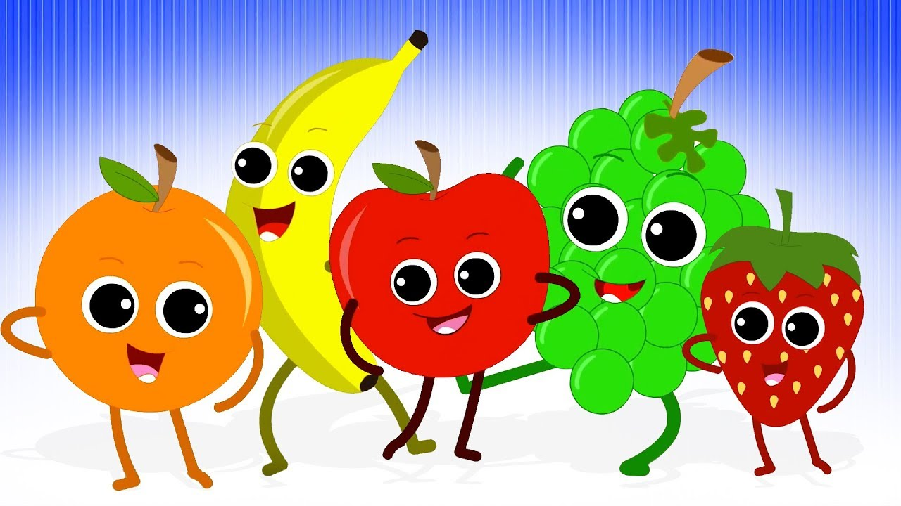 Five Little Fruits   Fruits Song For Kids   Nursery Rhymes and Baby Songs