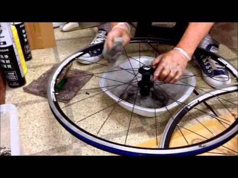 自転車の 自転車 洗浄 : ... 自転車のホイール手作業洗浄
