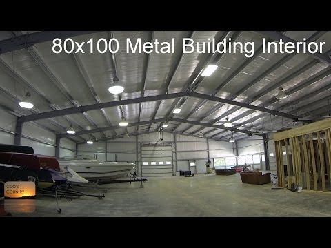 80x100 Metal Building Update: Interior Tour