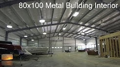 80x100 Metal Building Update: Interior Tour