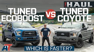 Tuned F150 5.0L V8 vs Tuned Ecoboost On Drag Strip and Dyno - The Haul