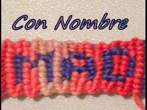 8b0dbc7926dd Pulsera de Hilo  Con Nombre - YouTube