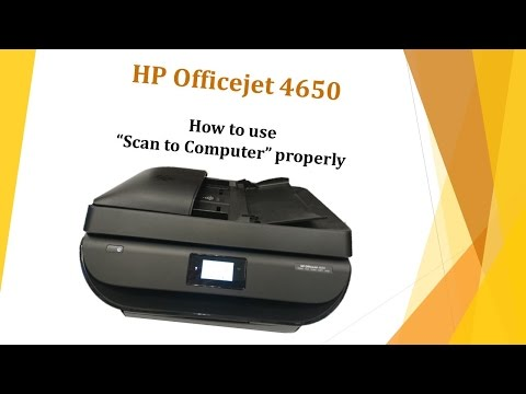 "HP Officejet 4650: How to use ""Scan to Computer"" properly"