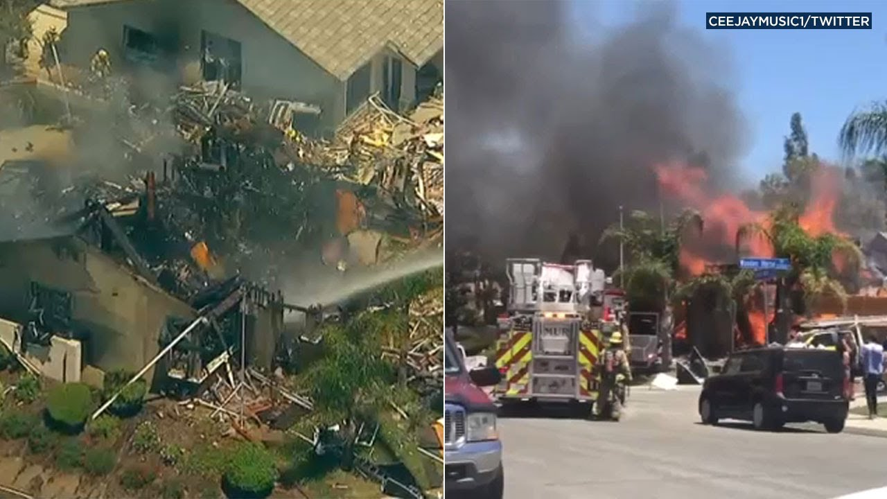 Explosion Shakes Murrieta CA Neighborhood Firefighters