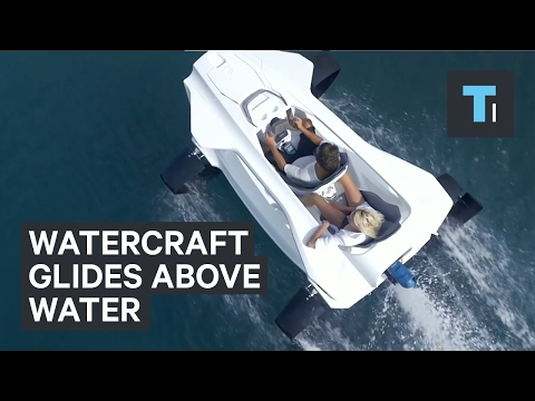 Personalized watercraft glides above the water