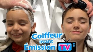 VLOG - Coiffeur Parisien pour Swan et Néo avant émission TV