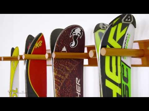 Timber Ski Wall Rack   StoreYourBoard