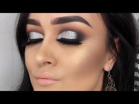 Maquillaje Negro Y Plateado Para Fiesta Monika Sanchez