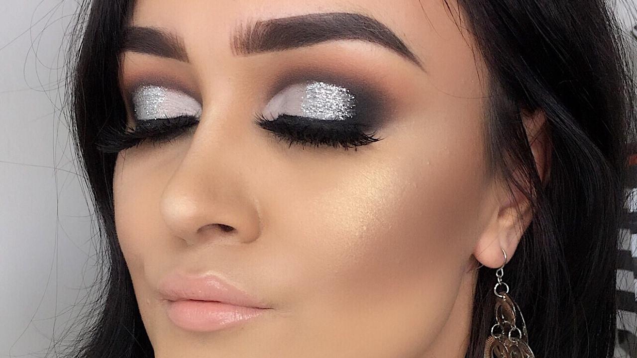 Maquillaje Negro Y Plateado Para Fiesta Monika Sanchez Youtube - Maquillaje-negro