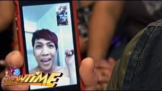 Vice Ganda on It's Showtime via video chat!