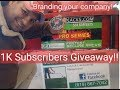 Branding your company | 1K subscribers Giveaway