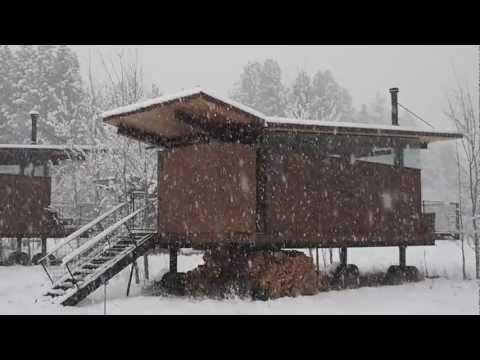 Rolling Huts, Mazama, WA December 2012