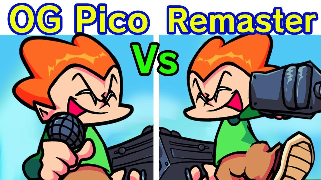 Friday Night Funkin' Pico Vs. Pico Remastered Vs Pico Anime [FNF HD MOD/Hard] (Original Vs Remaster)