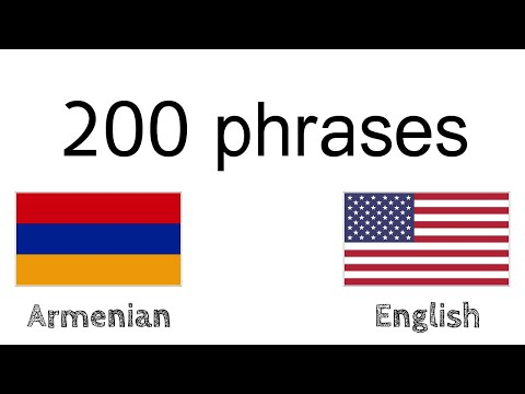 200 Phrases - Armenian - English