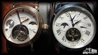 Tourbillon From China: Johnny Roger By Seagull I Akribos Xxiv Dual Time