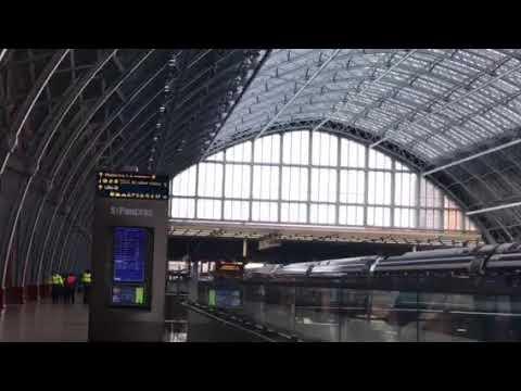 Gorgeous architecture of St. Pancras Station - London, England